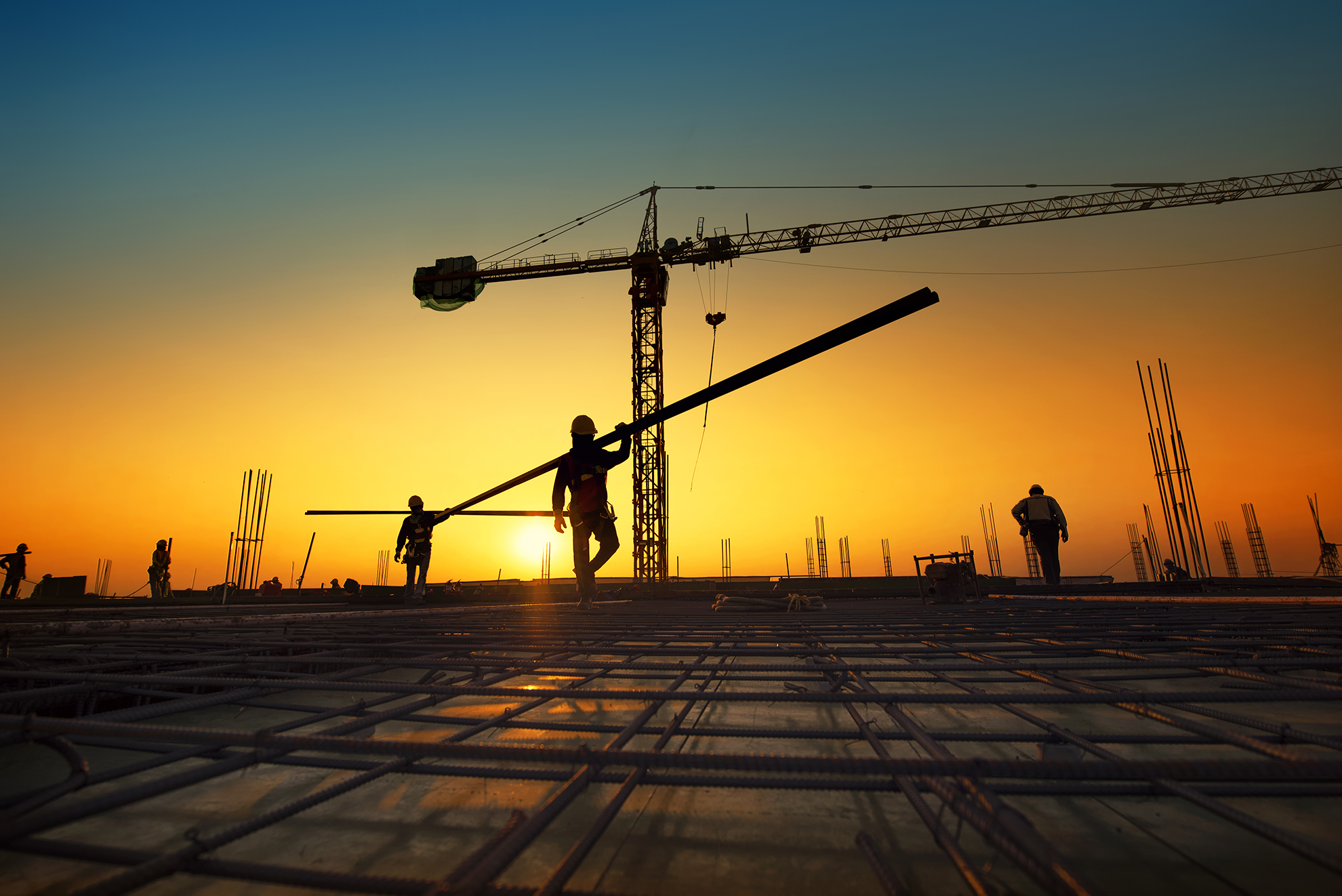 silhouette-construction-workers-fabricating-steel-reinforcement-bar-construction-si